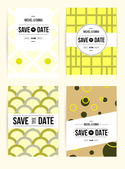 Abstract cards with date — Stock Vector