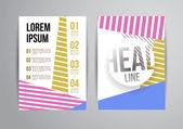 Flyer, Brochure Design Templates — Stok Vektör