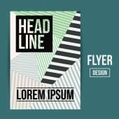 Flyer, Brochure Design Templates — Stock Vector