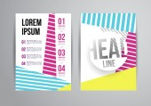 Dépliant, Brochure Design Templates — Vecteur