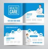 Healthcare brochure voor kliniek met artsen — Stockvector
