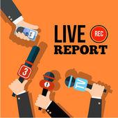 Live news concept — Stock Vector