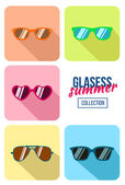 Hipster sunglasses set — Stock Vector