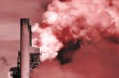 Global warming from carbon dioxide — Stock Photo
