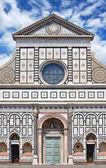 Facade of Basilica di Santa Maria Novella in Florence, Italy — Stock Photo