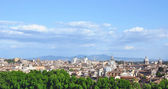 Rome historic center city skyline as seen from Castel Sant Angelo — Stock Photo