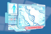 Futuristic DNA scanning medical procedure for monitoring health — Stock Photo