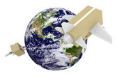 Worldwide shipping and airmail delivery — Stock Photo