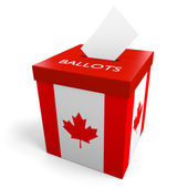 Canada election ballot box for collecting votes — Stock Photo