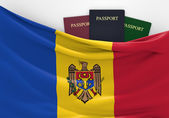 Travel and tourism in Moldova, with assorted passports — Stock Photo