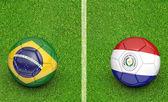 2015 soccer tournament, teams Brazil vs Paraguay — Foto de Stock