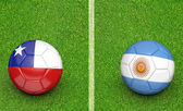 2015 soccer tournament, teams Chile vs Argentina — Foto Stock