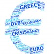 Euro word cloud concept of the Greek financial and economic crisis — Stock Photo #81398972