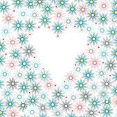 πλαίσιο λουλουδιών — Διανυσματικό Αρχείο