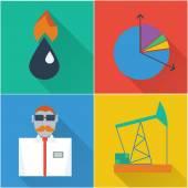 Finansiella ikoner i en platt design — Stockvektor