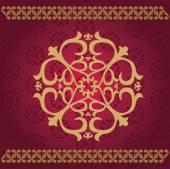 Kazakh Asian ornaments — Stock Vector