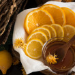 Sliced lemon and orange — Stock Photo #64903905