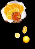 Citruses on black — Stock Photo