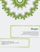 与花卉元素的模板 — 图库矢量图片