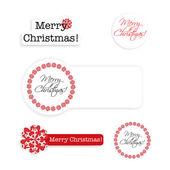 Set Kerstmis etiketten — Stockvector