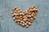 Hazelnuts closeup — Stock Photo