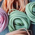 Colorful raw italian pasta — Stock Photo #69955755