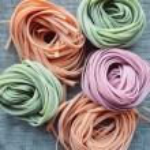 Colorful raw italian pasta — Stock Photo #69955771
