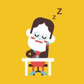 Character illustration design. Businessman dozing cartoon,eps — Stock Vector