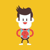 Character illustration design. Businessman on time cartoon,eps — Stock Vector