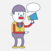 Character illustration design. Businessman message cartoon — Stock Vector