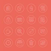 Office line icon set — Stock Vector