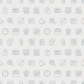 Office line icon pattern set — Stock Vector