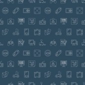 Game line icon pattern set  — Vettoriale Stock