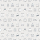 Einkaufsmöglichkeiten Linie Muster Symbolsatz — Stockvektor