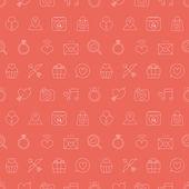 Valentine's day line icon pattern set — Cтоковый вектор