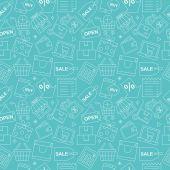 ショッピング ライン アイコン パターン ・ セット — ストックベクタ