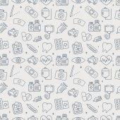 Hospital line icon pattern set — Stock Vector