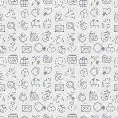 Valentine's day line icon pattern set — Wektor stockowy