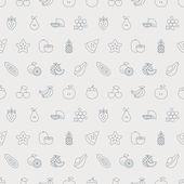 Fruits line icon pattern set — Stock vektor