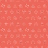 Wedding line pattern icon — Stock Vector