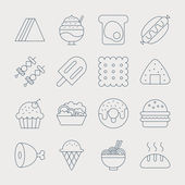 Food line icon set — Stock Vector