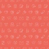Valentine's day line icon pattern set — Stock Vector