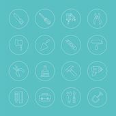 Tool line icon set — Vector de stock