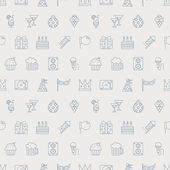 Party line icon pattern set — Stock Vector