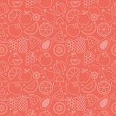 Fruit line icon pattern set — Stock Vector