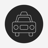 Taxi line icon — Stock Vector