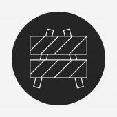Roadblocks line icon — Stock Vector