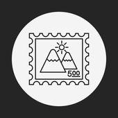 Photo line icon — Stock Vector