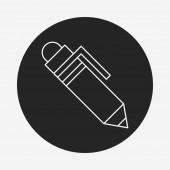 Pen line icon — Stock Vector