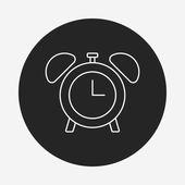 Clock line icon — Stock Vector